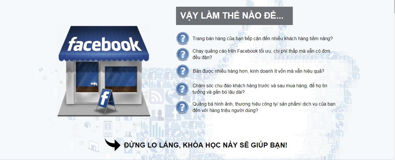 khóa học facebook sẽ giúp bạn